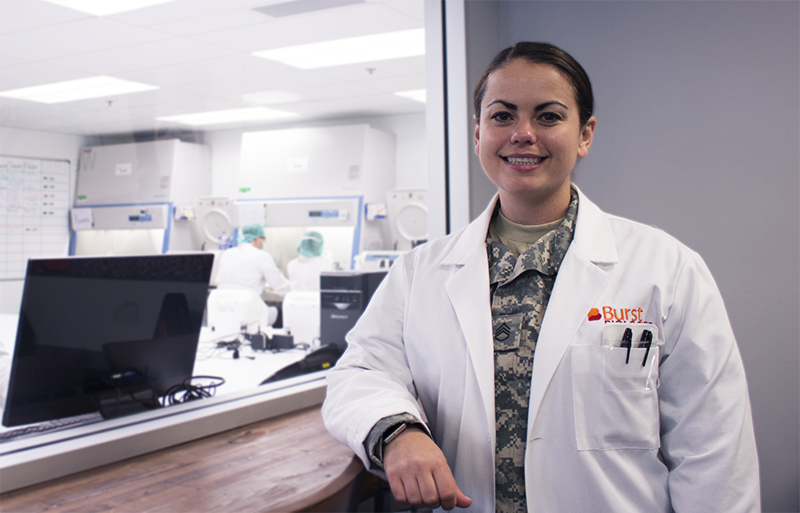 Laboratory and Military experience