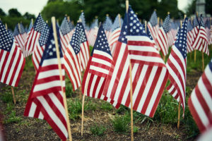 Honoring US military servicemen and women